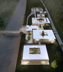 delugan meissl porsche museum domed greenhouses form heart of botanic garden design by delugan