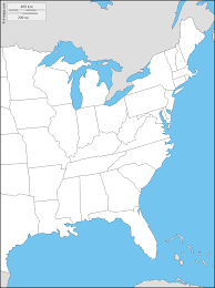 map of east coast states east coast of the united states free map free blank map free