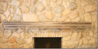 Wood Mantel Shelf Diy by Remodelaholic Installing A Wood Mantel On A Stone Wall