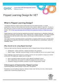 Resume For Any Job by Flipped Learning Design For Vet Factsheet