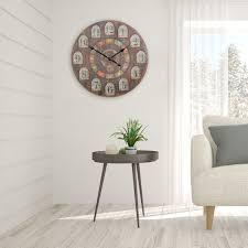 Wohnzimmer Bild Xxl Finebuy Deko Vintage Wanduhr Xxl ø 60 Cm France Holz Bunt Große