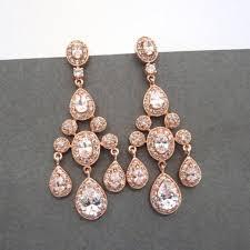 Chandelier Earrings Unique Chandelier Earrings Rose Gold Bridal Earrings Rose Gold Chandelier Earrings