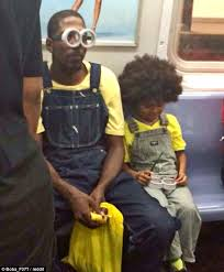 york man takes son minions movie costume