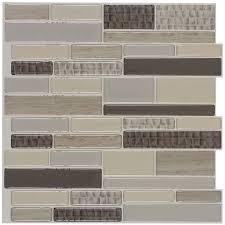 shop peel u0026stick mosaics caiman linear mosaic composite wall tile