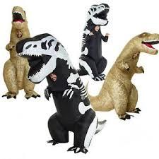 Jurassic Park Halloween Costume Inflatable Dinosaur Rex Jurassic Park Skeleton Halloween