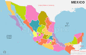 map of mexico with states map of mexico with states major tourist attractions maps