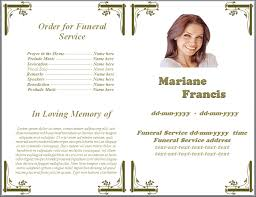 funeral programs order of service white floral decoration funeral program template by sammbither on