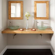 Bathroom Vanity Designs by Diy Custom Floating Bathroom Vanity Design In Solid Natural Bamboo