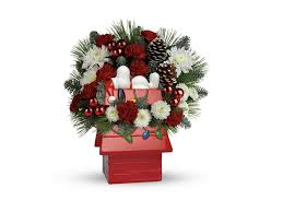 snoopy doghouse christmas decoration send cheer with snoopy s cookie jar by teleflora