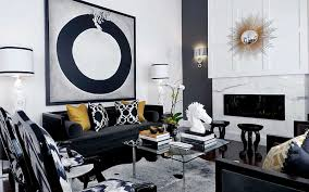 Black And White Living Room Furniture Home Design Ideas - Black living room chairs
