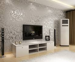 Wallpaper Interior Design European Style Golden Silver Simple European Pvc Wallpaper Bedroom