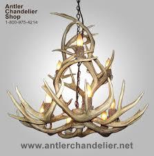 Authentic Antler Chandelier Small Med Chandeliers Antler Chandelier