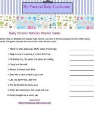 nursery rhyme baby shower free printable baby shower my practical baby shower guide