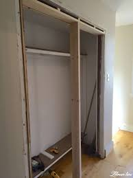 How To Build Bi Fold Closet Doors Diy Closet Door Makeover Bi Fold To Hinged Lehman