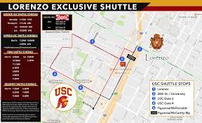 Usc Parking Map Lorenzo Parents Usc Student Housing