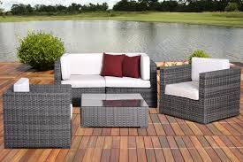 international home miami metz 5 pc wicker seating set with