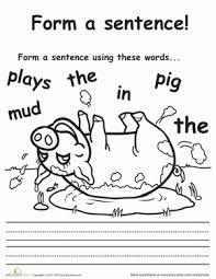 make a sentence 1st grade worksheets education com