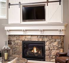 Fireplace Opening Covers by Mini Barn Door Sliding Doors Over Fireplace Classy Way To Cover