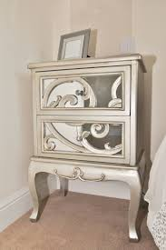 bedroom nice design gold mirrored bedside table with frame decor