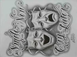 later to draw a cholo skull by wizard laugh tattoos