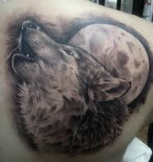 amazing wolf howling at the moon shoulder tattoos photos