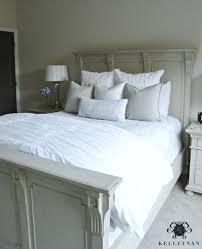 Guest Bedroom Bedding - neutral bedding makeover from matching to coordinating kelley nan