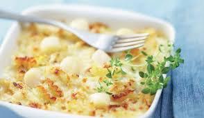 cuisiner noix de st jacques surgel馥s gratin de pâtes aux jacques et fondue de poireaux surgelés