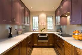 teak wood kitchen cabinets modern kitchen design with u shaped two tone teak wood kitchen