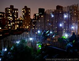 use solar powered led lights to decorate your balcony or yard