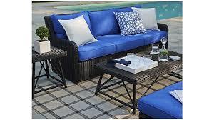 Patio Furniture With Sunbrella Cushions Calistoga Sofa Crate And Barrel Crates Barrels And Outdoor Living