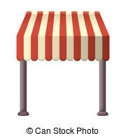 Red And White Striped Awning Vectors Illustration Of Red And White Strip Shop Awning With Space