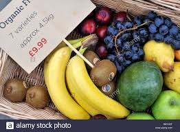 fruit delivery service organic fruit box for home delivery service stock photo 25858864