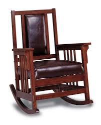 Real Wood Rocking Chairs Mission Style Glider Rocking Chair Home Chair Decoration