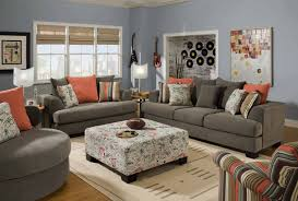 Orange Sofa Chair Sofa Grey Leather Furniture Gray Sofa Light Gray Couch Grey
