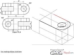 engineering drawing tutorials isometric drawing with front and