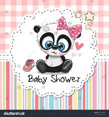 baby shower greeting card cute cartoon stock vector 733008985