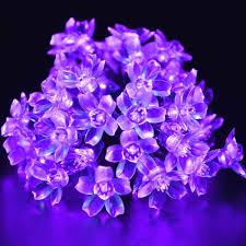 Halloween Fairy Lights by Agptek Waterproof 50 Led Solar Powered Blossom String Lights For