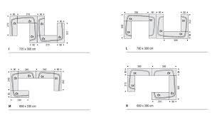 Sectional Sofa Dimensions Bora Bora Sectional Sofa By Mdf Italia Design Piergiorgio