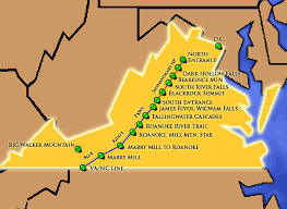 virginia on a map of the usa virginia travel destinations attractions things to see and do