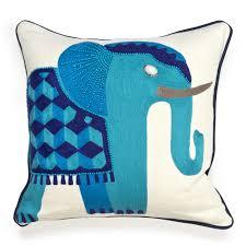 decor jaipur blue elephant pillow for inspiring living room