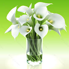 Lily Bouquet Model Realistic Flowers Calla Lily