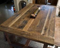 Refurbished Dining Tables Reclaimed Wood Dining Table Etsy
