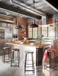 cuisine industrielle inox crã dence de cuisine originale cuisine industrielle cuivre