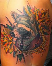 gentleman raccoon tattoo by speck osterhout