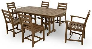 Recycled Plastic Outdoor Furniture Monterey Bay 7 Piece Dining Set Trex Outdoor Furniture