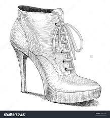 drawn shoe sketch heel pencil and in color drawn shoe sketch heel