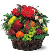 flowers decoration fruit basket to india delivery fast gifts