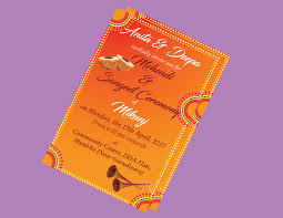 Marriage Invitation Card Format In Gujarati Mehendi Ladies Sangeet Sangeet Invitation Card Groom Night