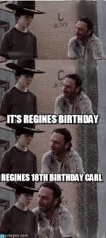Walking Dead Birthday Meme - it s regines birthday carl walking dead meme on memegen