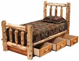 Cedar Log Bedroom Furniture by Cedar Log Bed W Dresser Under Bed 12300 Lonesome Cottage